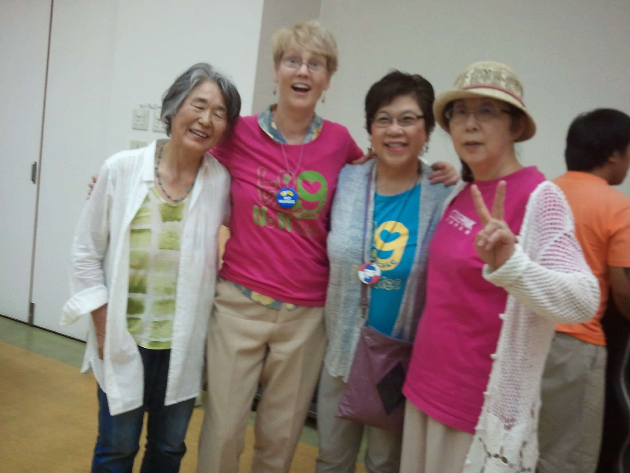 Sally Jones in Hiroshima 2014.
